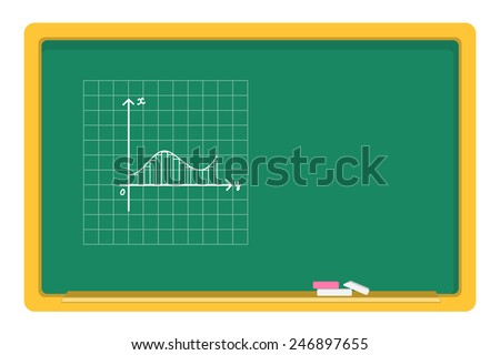 vector blackboard, chalk, drawing graphics - stock vector