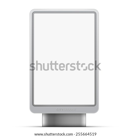 Vector blank advertising panel for streets, city baner 1,2x1,8 m format - stock vector