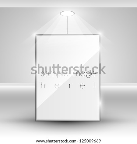 Vector blank banner display template - stock vector
