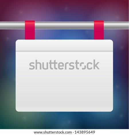 Vector blank banner template - stock vector