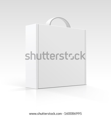 Vector Blank Box with Handle - stock vector