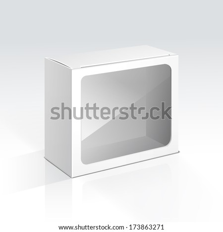 Vector Blank Box with Transparent Window - stock vector