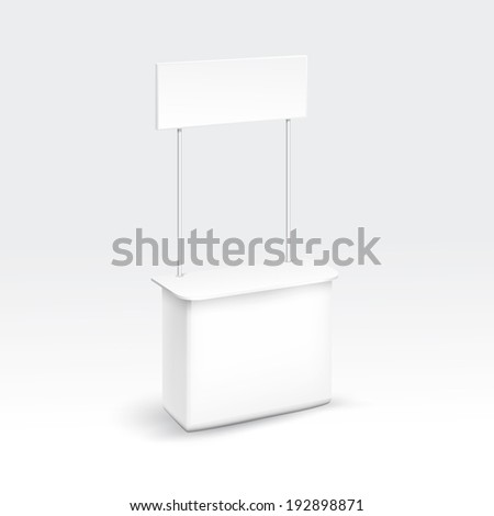 Vector Blank Exhibition Trade Stand - stock vector