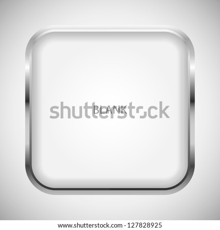 Vector blank icon for apps. - stock vector