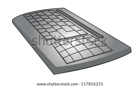 Vector blank keyboard layout. Computer input element