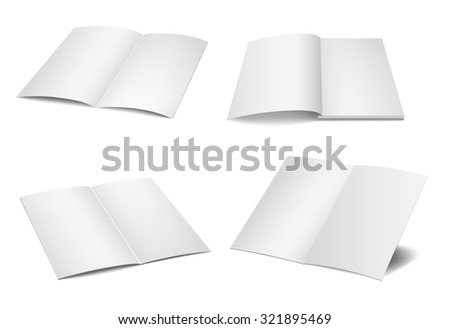 Vector blank magazine spread on white background. - stock vector