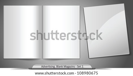 Vector blank magazines. Template for your design. Set 2 - stock vector
