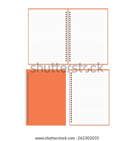 Vector blank notebook isolated on white - stock vector
