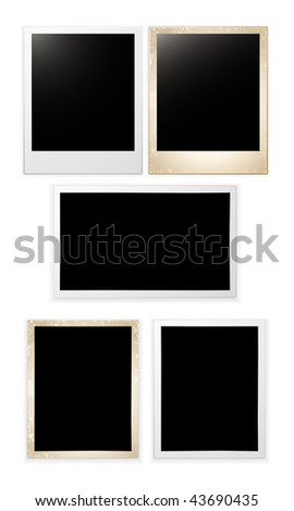 vector blank photo cards set - stock vector