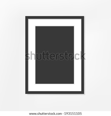 vector blank picture frame on white background