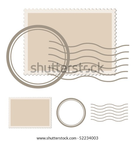vector blank post stamp - stock vector