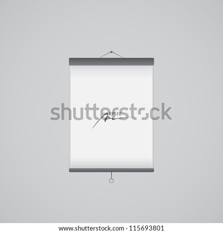 Vector blank roll up banner - presentation - stock vector