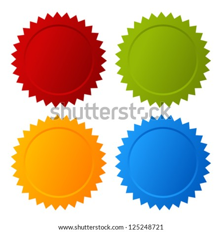 Vector blank seals set - stock vector