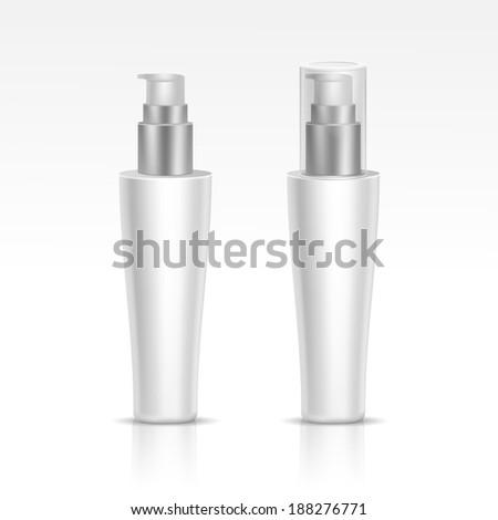 Vector Blank Spray Bottle - stock vector