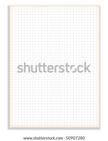 Vector Blank squared notebook sheet