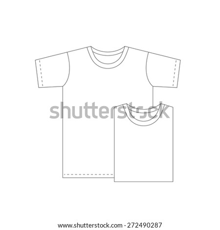 Vector blank t shirt design template stock vector 272490287 vector blank t shirt design template maxwellsz