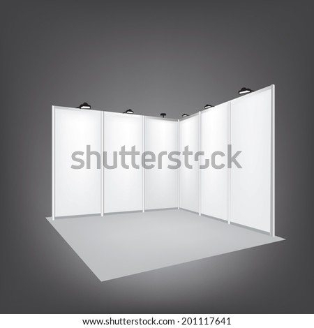 Vector Blank trade exhibition stand - stock vector
