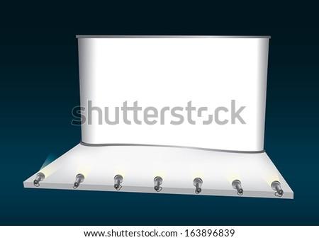 Vector blank trade show booth backdrop - stock vector