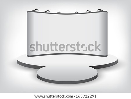 Vector blank trade show booth backdrop - stock vector