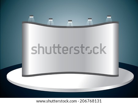 Vector blank trade show booth for designers1 - stock vector