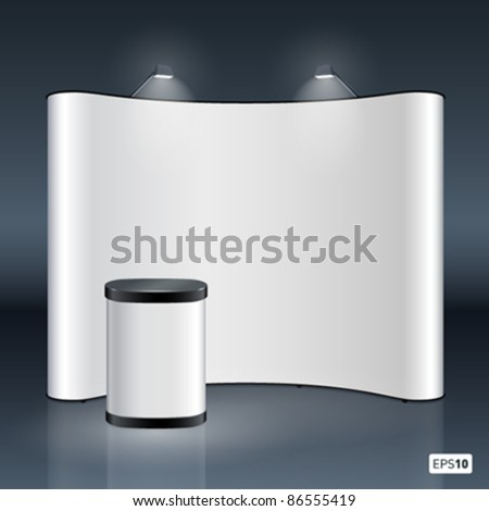 Vector blank trade show booth for designers - stock vector