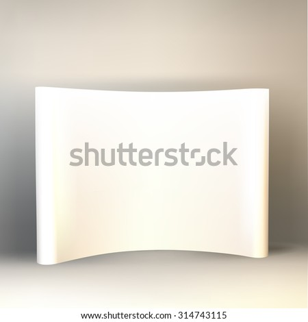 Vector blank trade show booth for designers, isolated - stock vector