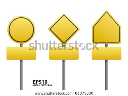 vector blank traffic sign - stock vector