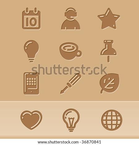 vector blog icons set2 - stock vector
