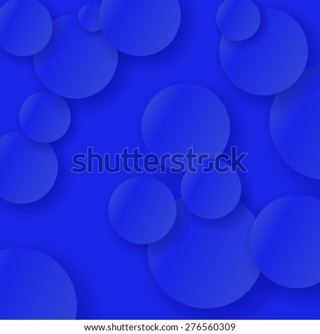 Vector Blue Abstract Circle Background. Blue Circle Texture. - stock vector