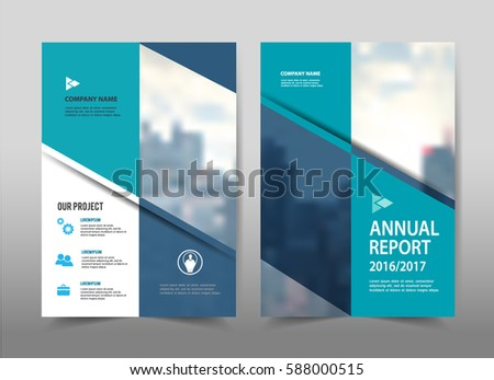 Abstract Blue Geometric Background Poster Brochure Stock Vector