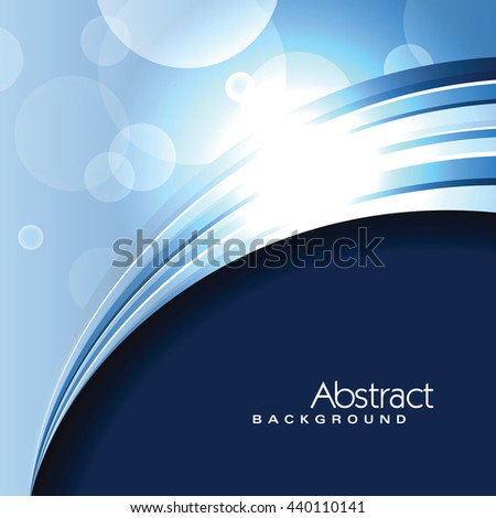 Vector Blue Background. Abstract Sparkly Illustration. - stock vector
