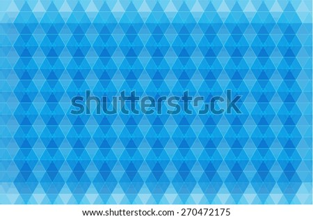 Vector: Blue Background. Composed of Geometric Figures - stock vector