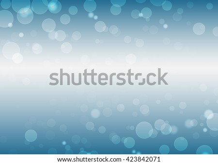 Vector blue background with bokeh lights. - stock vector