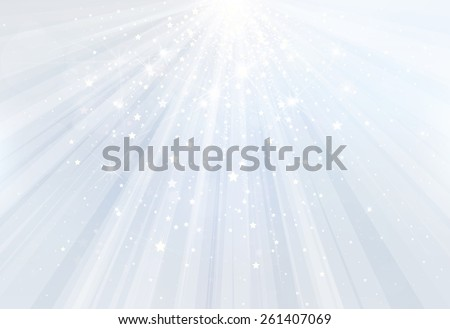 Vector blue background with rays, stars and lights. - stock vector