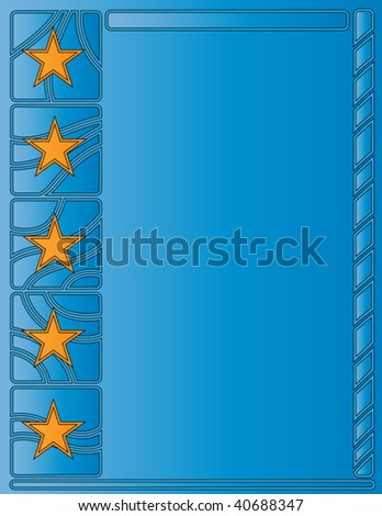 Vector blue background with stars