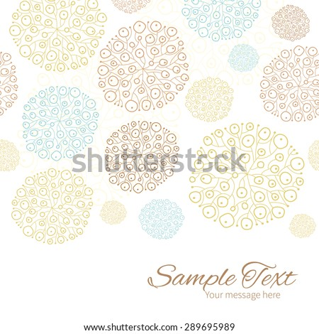 Vector blue brown abstract seaweed texture horizontal border card template