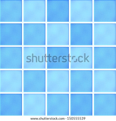 Vector blue ceramic tiles - stock vector