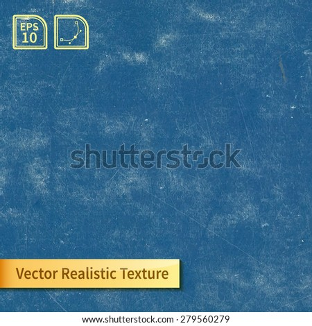 Vector blue chalkboard texture - stock vector