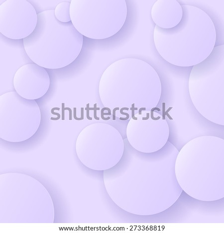 Vector Blue Circle Modern Background. Blue Paper Circles. - stock vector