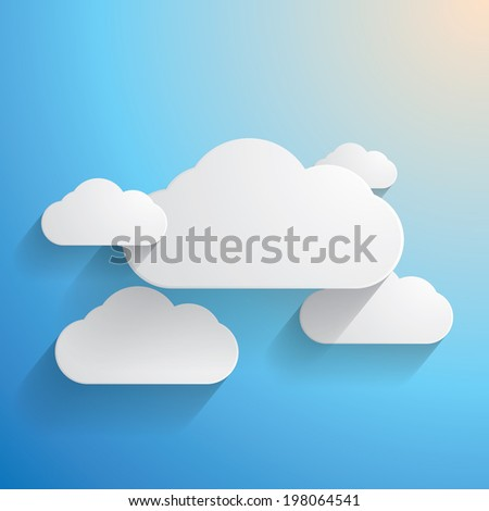 Vector blue cloudy paper background