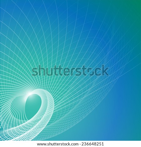 Vector blue contemporary background with abstract element - stock vector