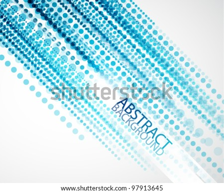Vector blue dotted straight lines background - stock vector