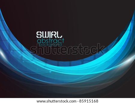 Vector blue flow abstract background
