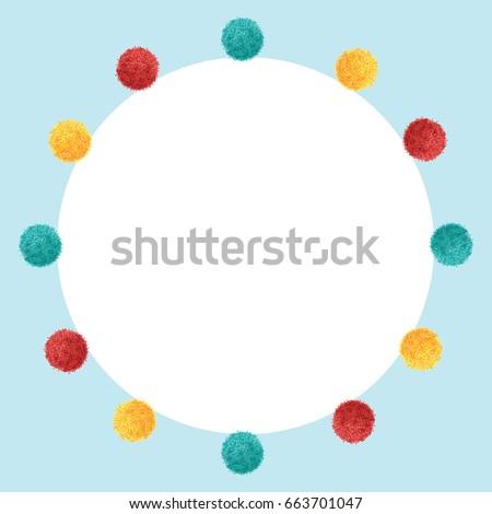 Vector Blue Frame Vibrant Birthday Party Stock Vector 663701047