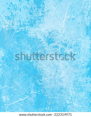 Vector blue ice background. - stock vector