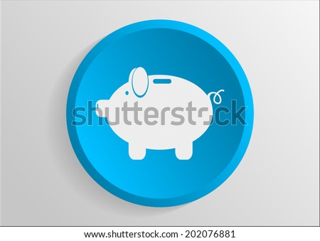 vector blue icon on gray background - stock vector