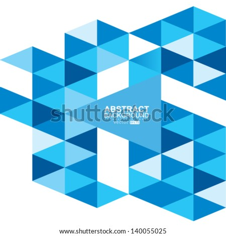 Vector blue modern geometric design template.
