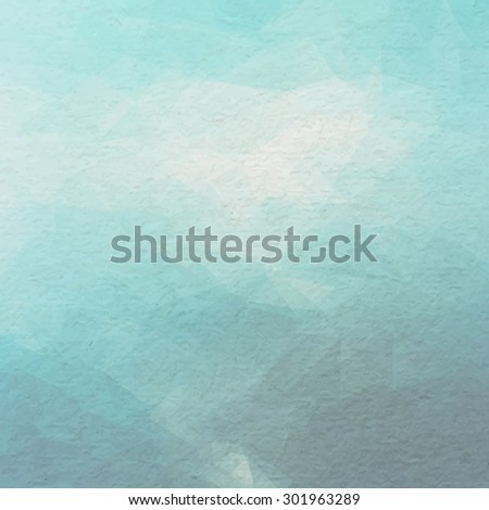 Vector blue paper on triangle background. Old paper background. - stock vector