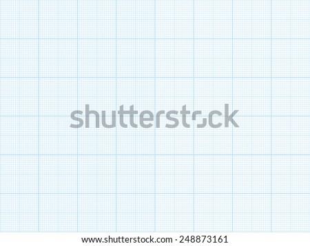 Vector blue plotting graph grid paper background - stock vector
