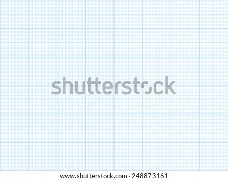Vector blue plotting graph paper background - stock vector